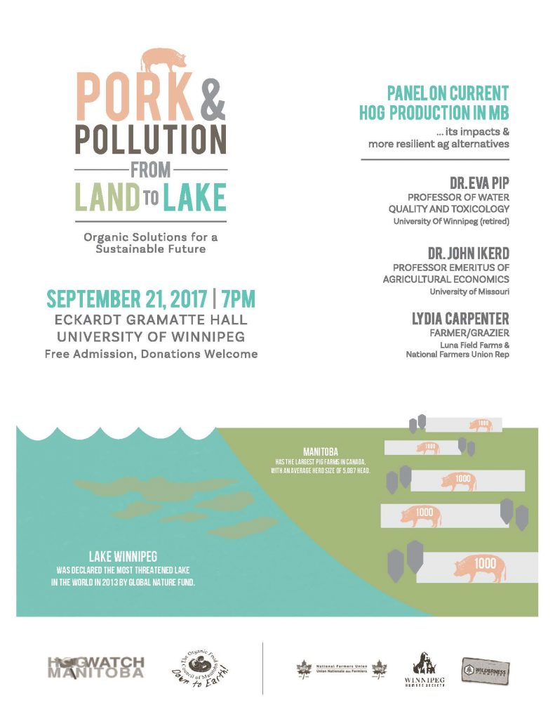 Pork & Pollution from Land to Lake @ University of Winnipeg Eckhardt Gramatte Hall