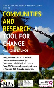 Magazine launch:  Manitoba Research Alliance's Communities and Research @ Circle of Life Thunderbird House